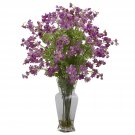 Dancing Daisy Silk Flower Arrangement (Purple)