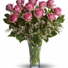 Make Me Blush - Dozen Long Stemmed Pink Roses (1 dozen)