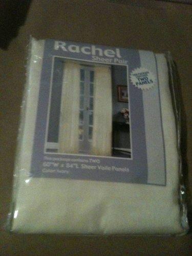 "Richloom 60"" W x 84"" L Rachel Textured Sheer Curtain Panel Pair In Ivory"
