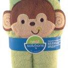 Neat Solutions Happy Monkey 3D Applique Woven Terry Bath Wrap G1-TBW