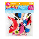 Darice SP301D Sock Friends Puppets People Parts - 80 pieces  RG2-PP