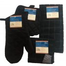 6 Piece Black Windowpane Theme Kitchen Linen Set RC5-BWP6
