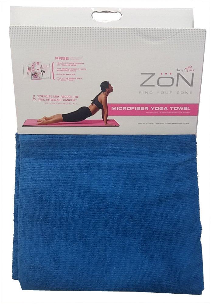 "Zon Blue Yoga Towel 24"" x 70"" Microfiber RC4-BYT"