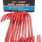 Cal Hawk 10-Piece S-Hook Set RD2-15-SH