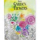 Darice Garden Flower Theme Coloring Books for Adults  RJ4-2-DAGF