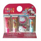 Hello Kitty Mirror Keychain & 3 Lipgloss Tubes - O1-34147