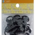 Kenney 14-Pack Clip Rings, Petit, Black RC5-BRC