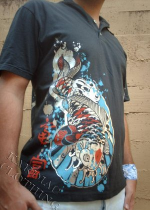 "Legends of Style ""Koi Fish"" Polo Shirt + Free Ed Hardy Poster"