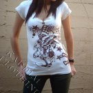 Purple Wing Eagle V neck T-shirt + Free Ed Hardy Poster