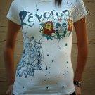"Revolution Clothing ""Roses & Skulls"" T-shirt + Free Ed Hardy Poster"