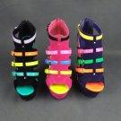 Neon Wedge Heels