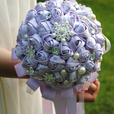 Crystal Silk Pearl Bouquet