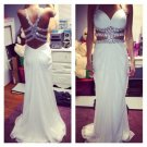 Chiffon Beaded Prom Dress