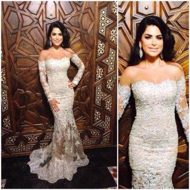 White Sweetheart Prom Dress