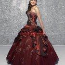 Beaded Strapless Prom Dress