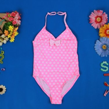 Kids Pink Polka Dot Swimsuit