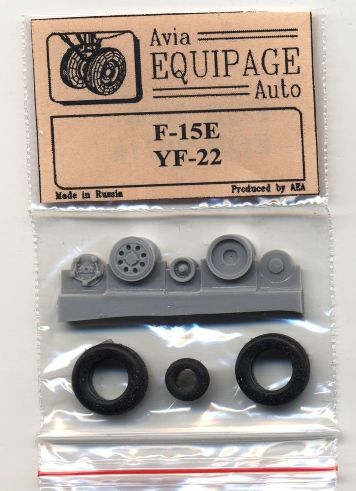 EQB72071a Equipage 1/72 Rubber Wheels for Lockheed/Boeing/General Dynamics YF-22