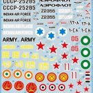 BGM-72012 Begemot decals 1/72 Mil Mi-8 Hip - 13 variants for Mi-8T/VKP/PPA/P