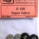 EQB72062 Equipage 1/72 Rubber Wheels for North American F-100 Super Sabre