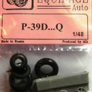 EQB48028 Equipage 1/48 Rubber Wheels for Bell P-39D …P-39Q20 Airacobra