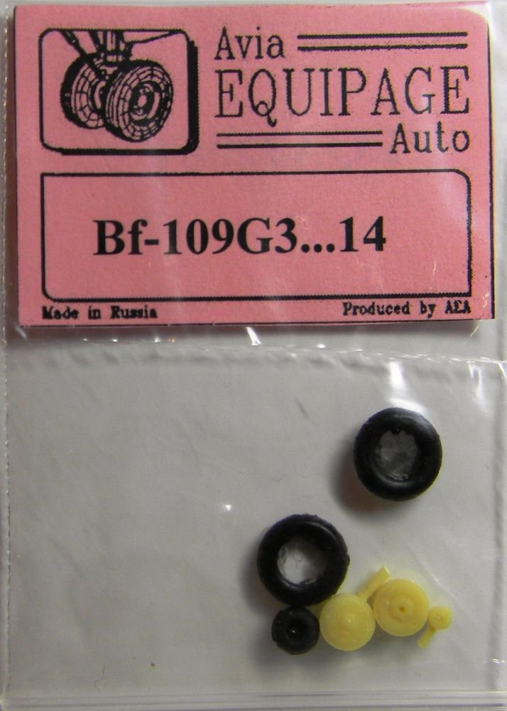 EQA72004 Equipage 1/72 Rubber Wheels for Messerschmitt Bf-109G-3 � to Bf-109G-14