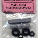 EQG72030 Equipage 1/72 Rubber Wheels for Mikoyan MiG-23BM / MiG-27 Aircraft