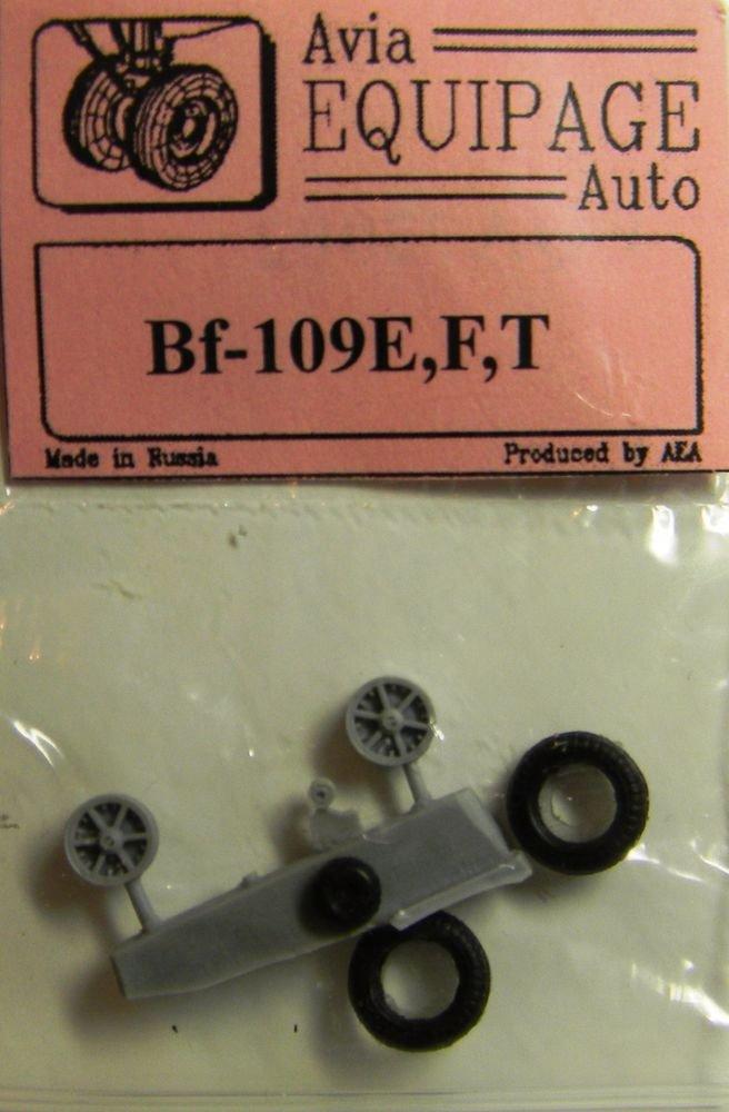 EQA72002 Equipage 1/72 Rubber Wheels forMesserschmitt Bf-109E/Bf-109F/Bf-109T