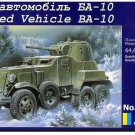 UMD-319 UM 1/72 BA-10 Soviet WW2 Armoured Car model kit