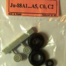 EQA72040 Equipage 1/72 Rubber Wheels for Junkers Ju-88A/C German WWII bomber
