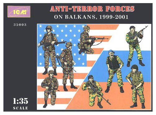 ICM-35003 ICM 1/35 Anti-terror forces on Balkans, 1999 - 2001 (8 figures) model
