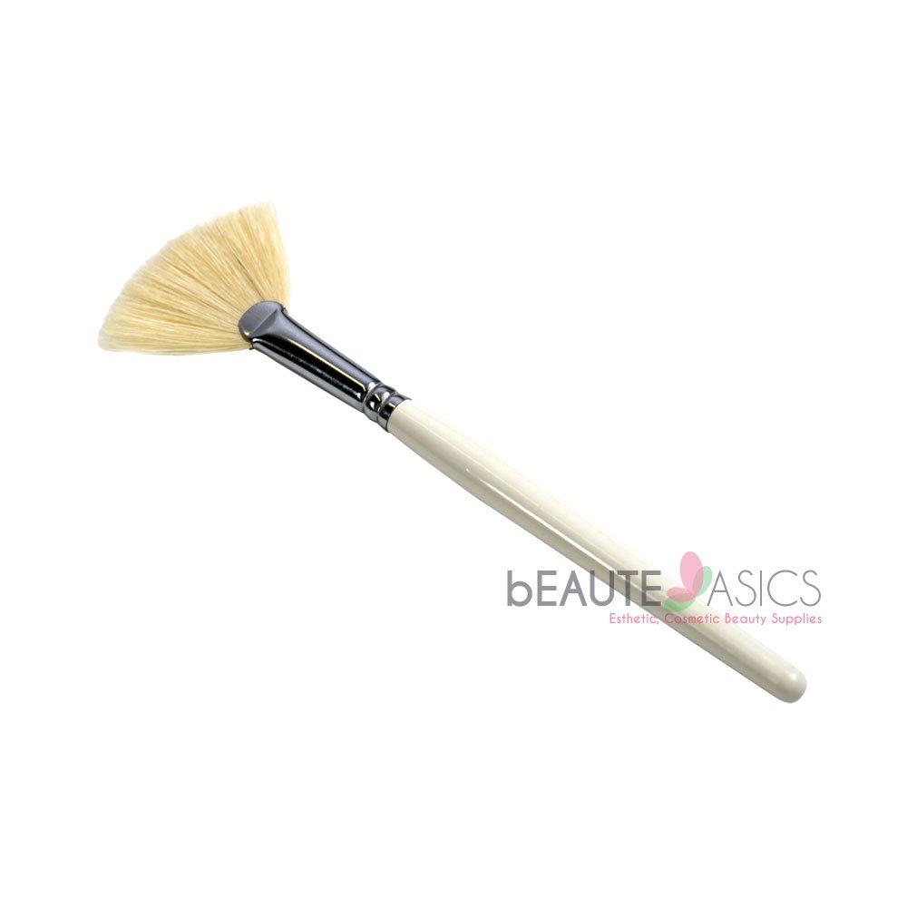 Facial Fan Brush Mask Brush Stiff Boar Bristle - sb4011x1