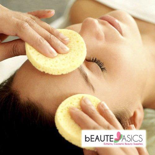 100 Pcs Appearus Compressed Facial Cleansing Sponges, Beige - S1901Yx1