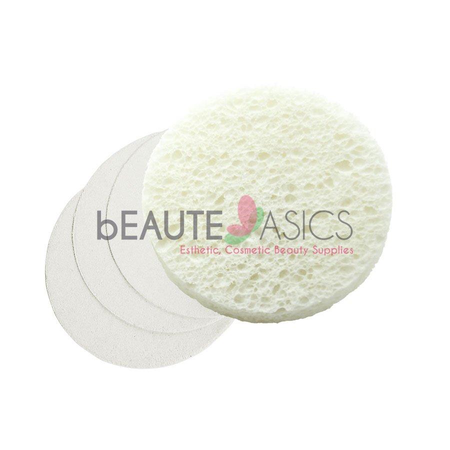 25 Pcs White Compressed Facial Sponges - S1925Wx1