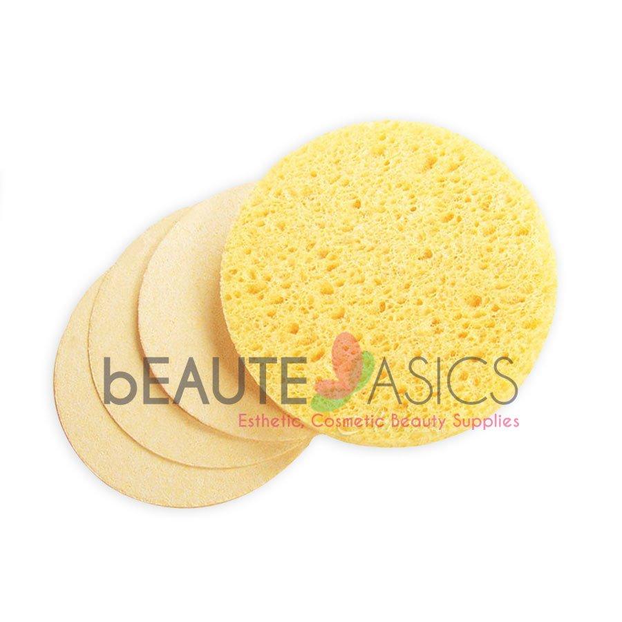 25 Pcs Beige Compressed Facial Sponges - S1925Yx1