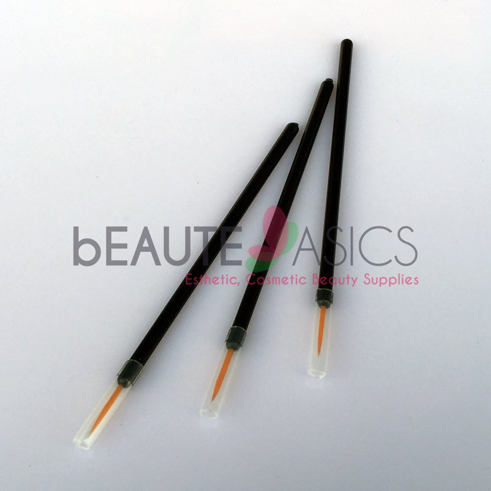 100 Pcs Disposable Fine Tip Eyeliner Brush, Synthetic Bristle CA5020x1