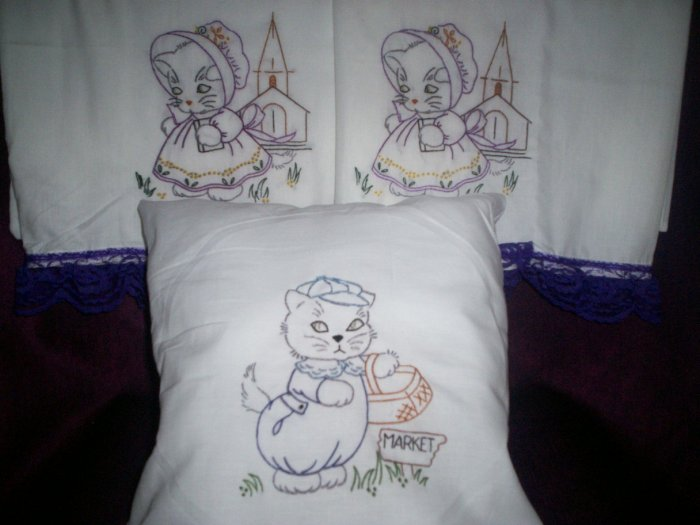 pillowcases a kitty Sunday with decorative throw pillow
