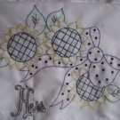pillowcases set of 2 monogramed his and hers sunflowers handmade