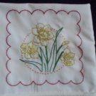set of 2 pillowcases lemon yellow daffodils