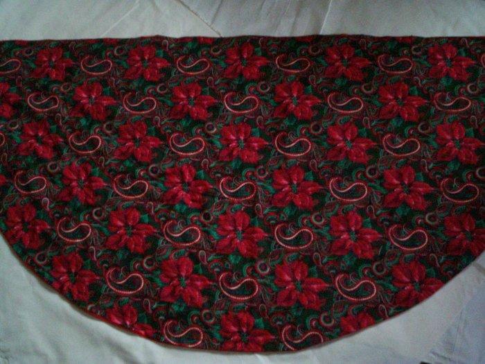 christmas tree skirt poinsettia mantel scarf handmade