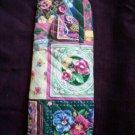 oven mitt pansies handmade