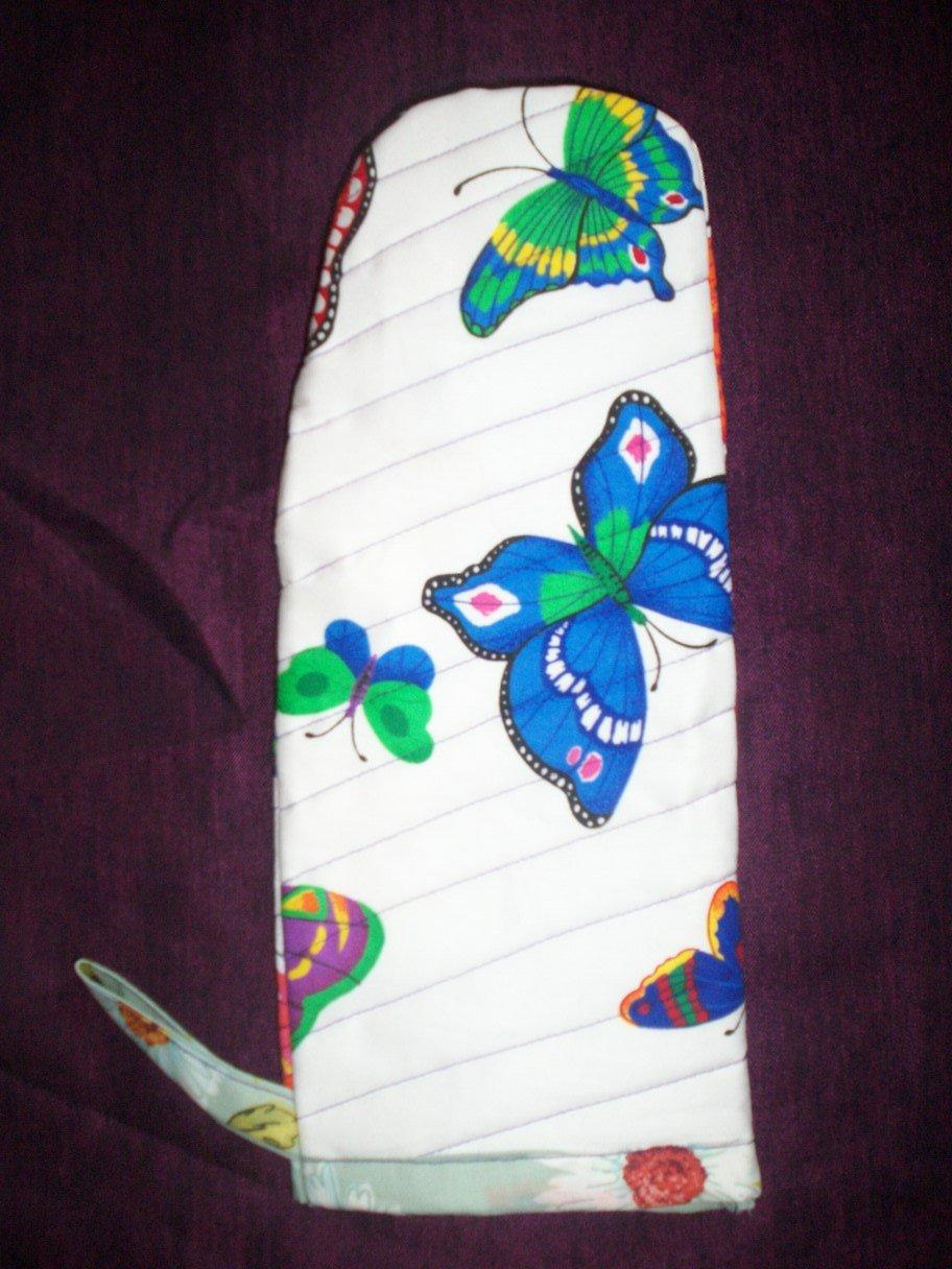handmade grilling mitt oven mitt butterflies