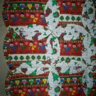 cradle bassinet blanket quilt babys first Christmas handmade 49 inches by 29 inches