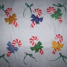 cradle bassinet blanket quilt babys first Christmas candy canes handmade 30 inches by 26 inches