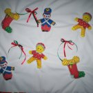 cradle bassinet blanket quilt babys first Christmas toy soldier stocking 30 inches by 26 inches