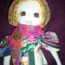 handmade doll little prairie girl pansy dress one of a kind doll 20 inches tall