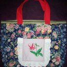 summer garden tote bag reusable go green handcrafted bags
