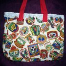 whimsical signs tote bag reusable go green handcrafted bags