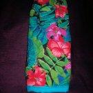paradise hibiscus fern oven mitt handmade