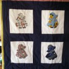 cradle bassinet baby blanket lap quilt handmade sunbonnet sue 41 by 35 inches