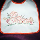 baby bib hand embroidered handmade 5 little pumpkins with fall leaves halloween